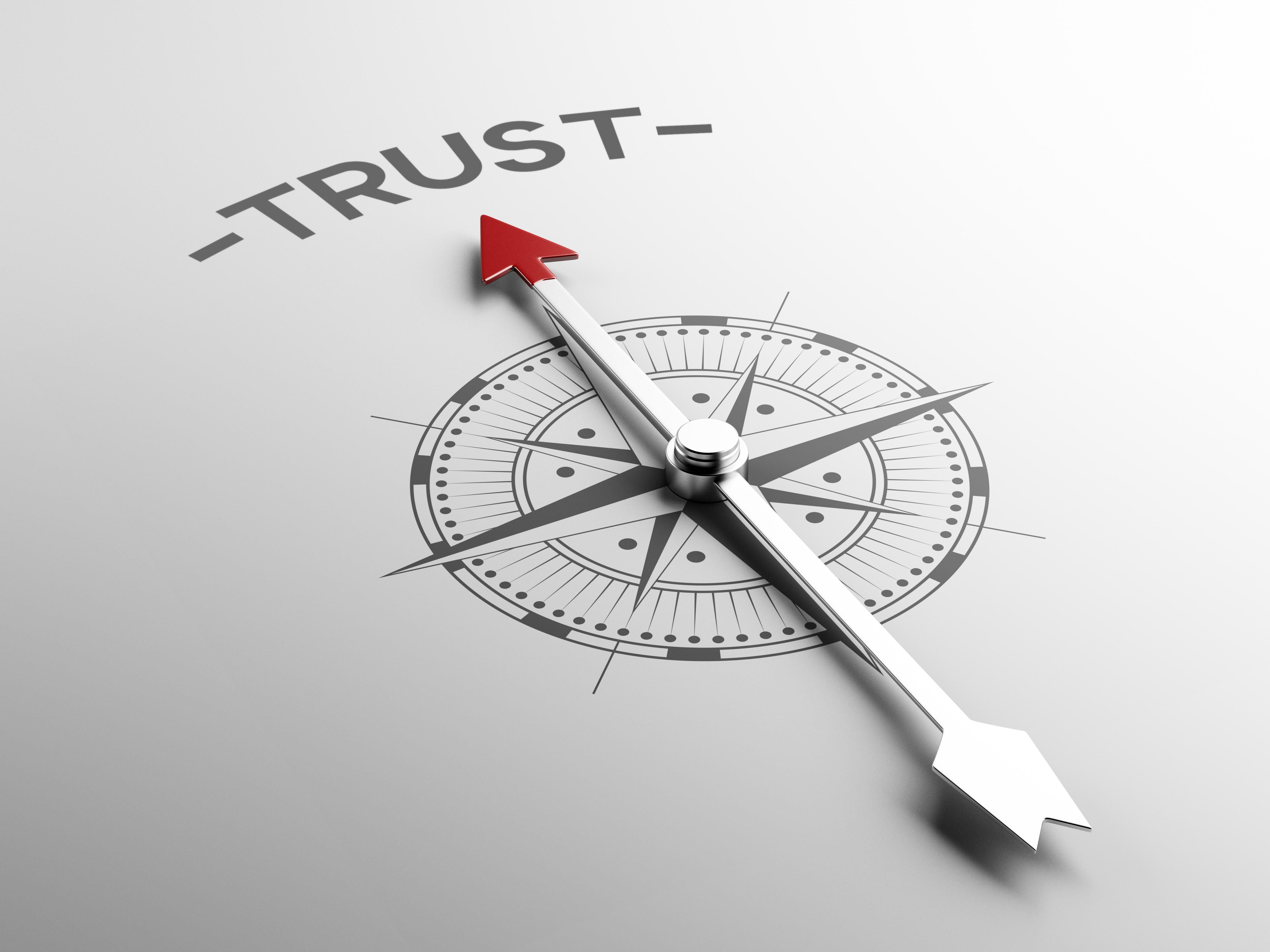 Trust with compass Shutterstock Image